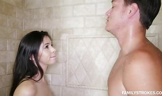 Cute Taylor Reed with wet beaver enjoys riding a meat bazooka