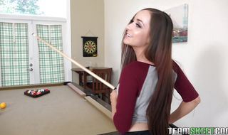 Adorable barely legal woman Jessie Lynn is being a real pro while stud is out of town