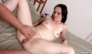 Worshipped hottie Joanna Black decided to have a first fuck with a new dude