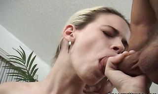 Dishy diva Rebecca receives a missionary plowing
