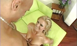 Horny young blonde Daryn Darby gives hot blowjob