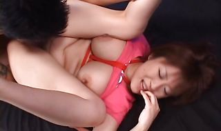 Appealing Nana Aoyama sucks and rides a small stick