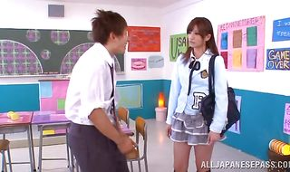 Glorious barely legal Erika Shibasaki and lover are making out