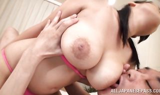 Lever sucking delights from racy cutie Ai Satou