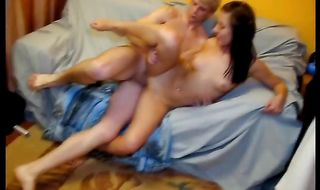 Nice sexy blonde Lera gives head and gets it hard in doggystyle