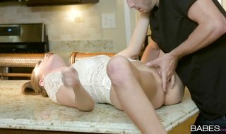 Beguiling honey Elena Koshka gags and rides on a firm dink