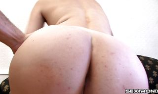 Lascivious Jeanette is ready to jump on stud's pecker